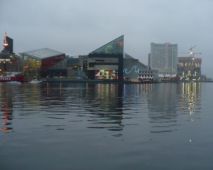 Baltimore Harbor Reflection Photograph  - Baltimore Harbor Reflection Fine Art Print