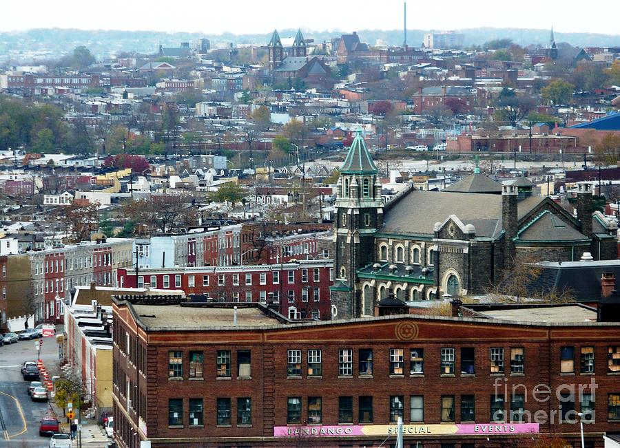 Baltimore Rooftops Photograph  - Baltimore Rooftops Fine Art Print