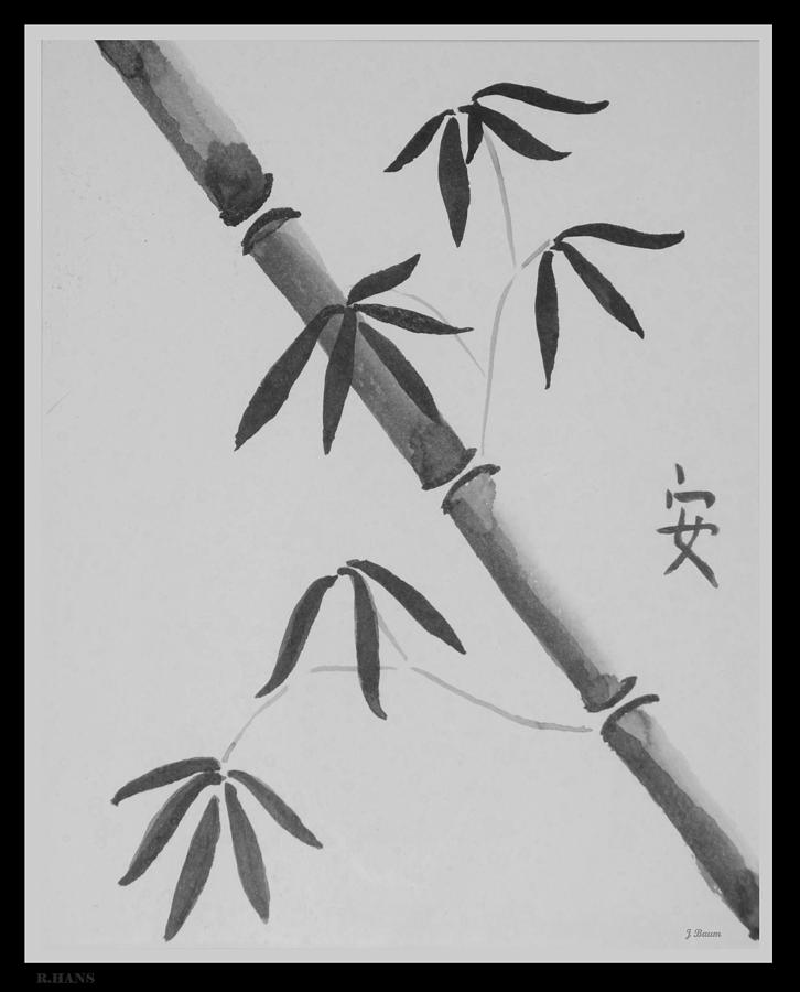 Bamboo Art In Black And White Photograph by Rob Hans