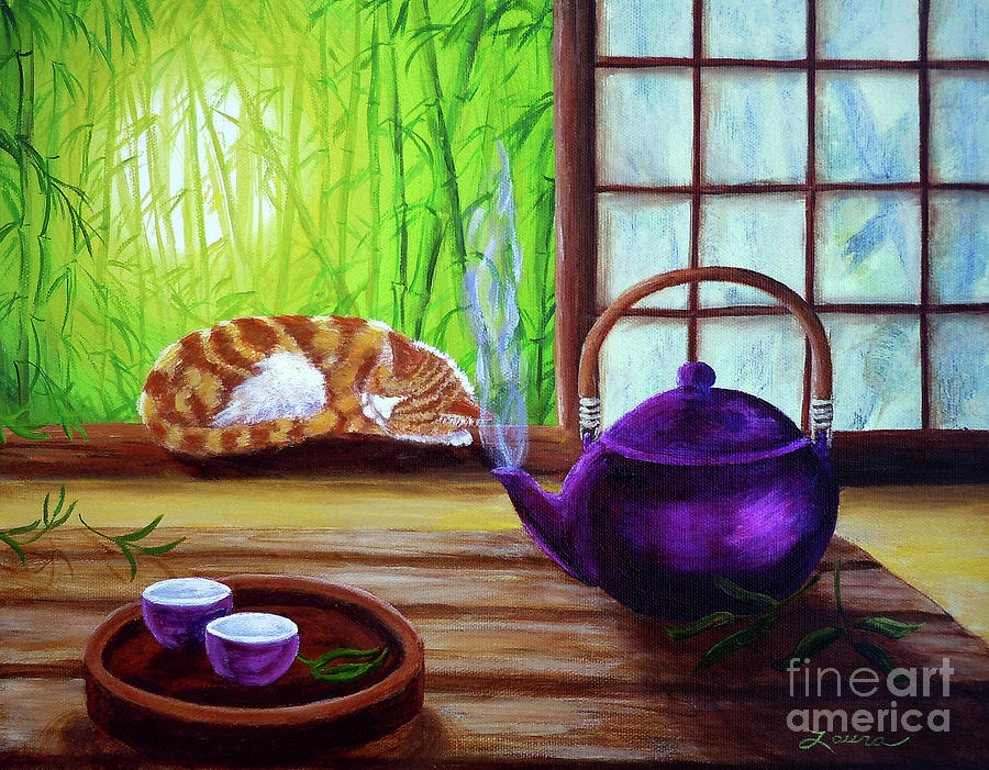 Bamboo Morning Tea Painting