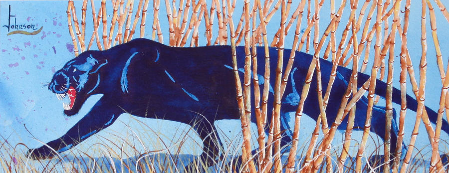 Bamboo Panther Painting