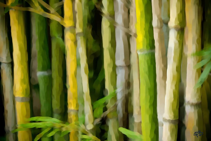 Bamboo Painting - Bamboo Zen by Paul Bartoszek