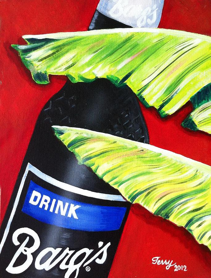 Barq's Root Beer Painting - Banana Leaf Series - Barqs Rootbeer by Terry J Marks Sr