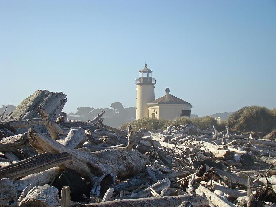 Bandon Oregon Lighthouse Art Prints Driftwood Photograph