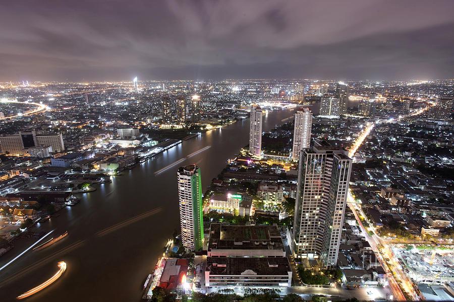 Bangkok City At Twilight  Photograph