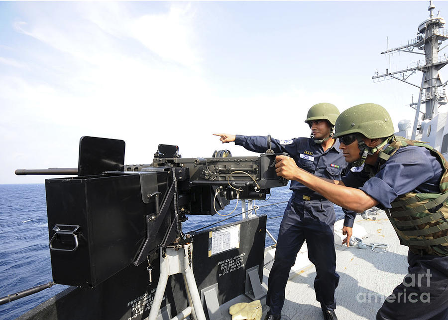 Bangladesh Navy Sailors Fire Photograph