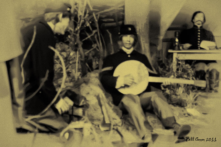Banjo Playing Union Soldier Photograph