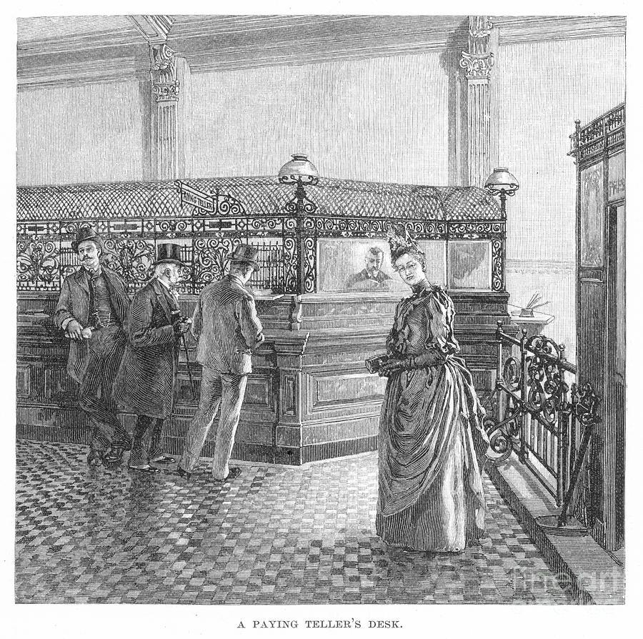 Banking, 19th Century Photograph