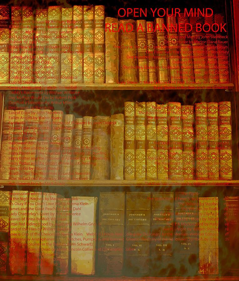 Banned Books Digital Art
