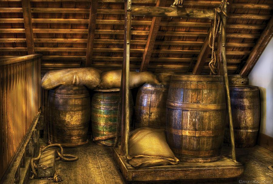 Bar - Wine Barrels Photograph