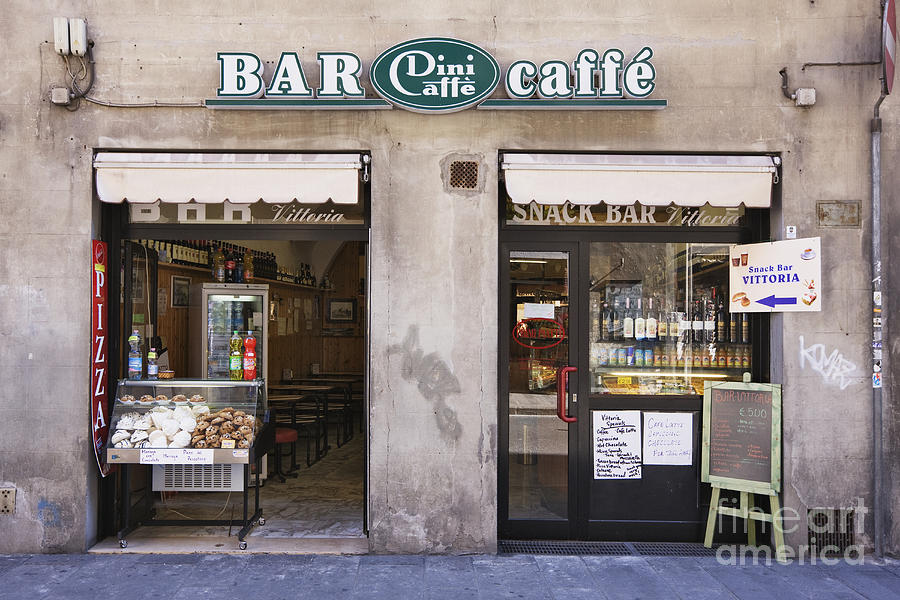 Bar Caffe Photograph  - Bar Caffe Fine Art Print