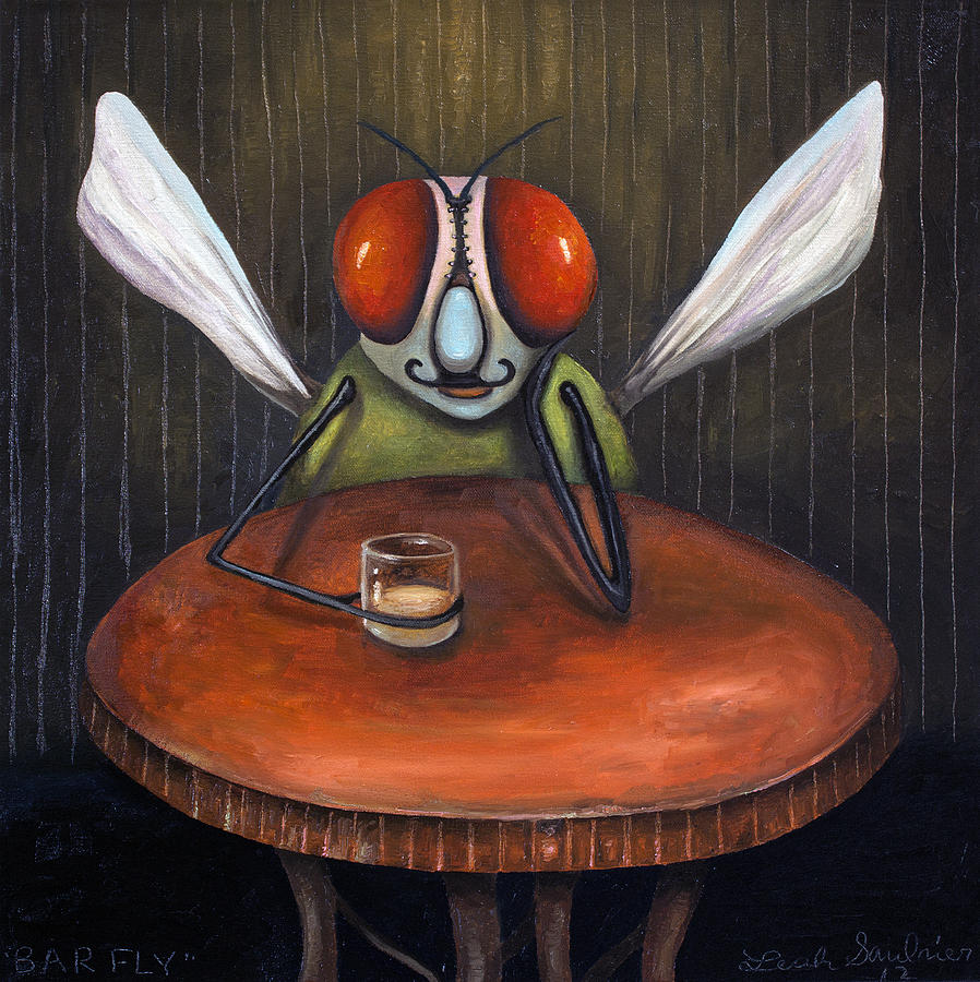 Bar Fly Painting  - Bar Fly Fine Art Print