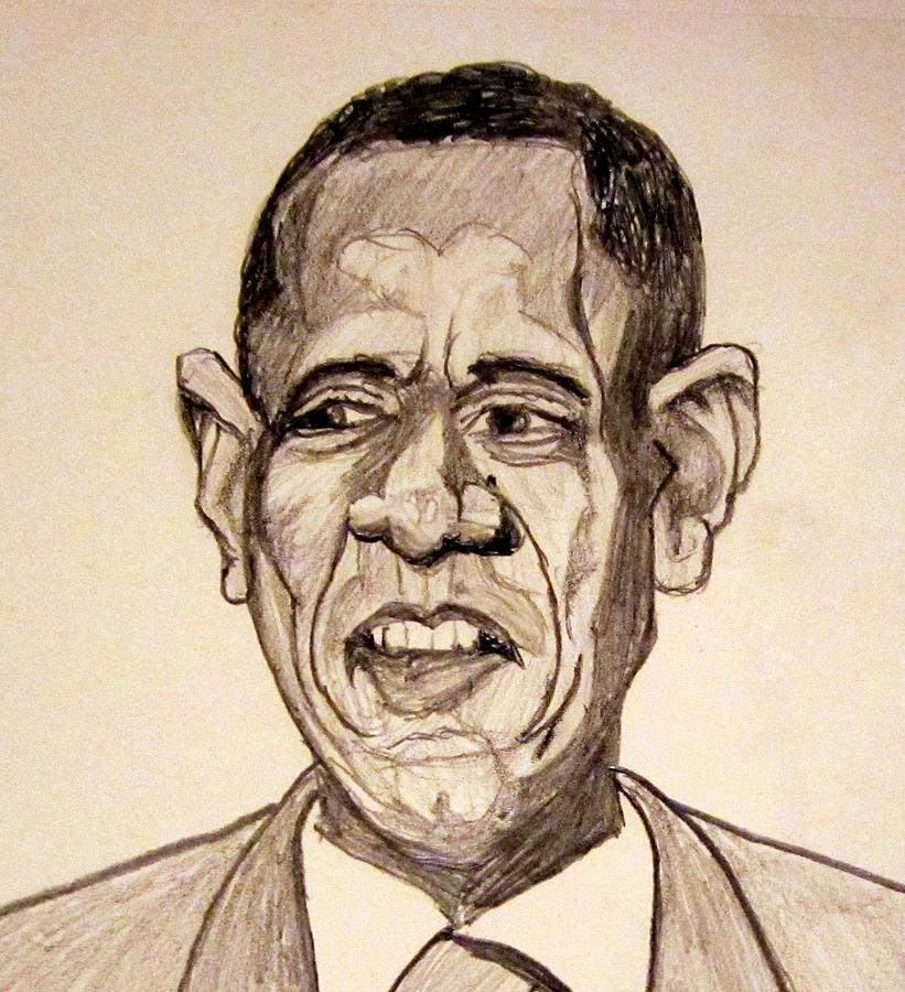 Barack Obama - Lifestyles Over Livelihood Drawing