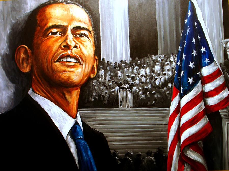 Barack Obama  Dare To Dream  Painting  - Barack Obama  Dare To Dream  Fine Art Print