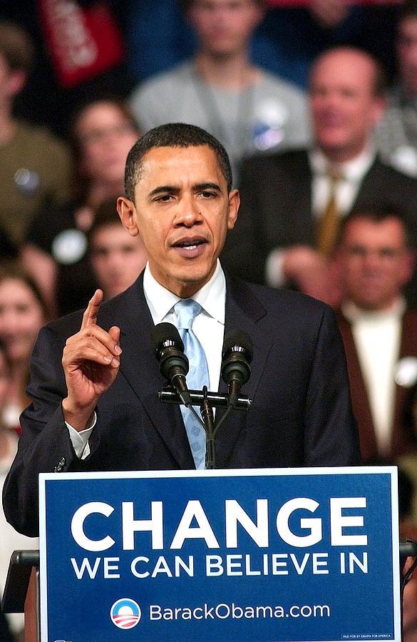 Barack Obama On Stage For Barack Obama Photograph