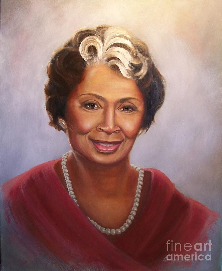 Portrait Painting - Barbara by Sonsoles Shack
