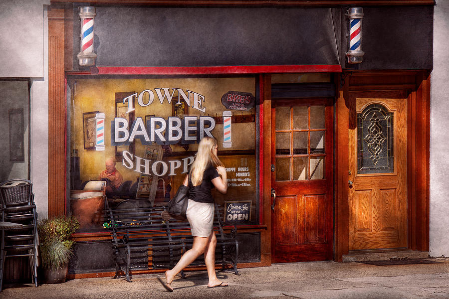 Barber Time : Barber Photograph - Barber - Barbershop - Time For A Haircut by Mike ...