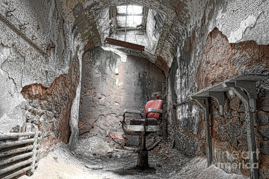 Barber - Chair - Eastern State Penitentiary Photograph  - Barber - Chair - Eastern State Penitentiary Fine Art Print