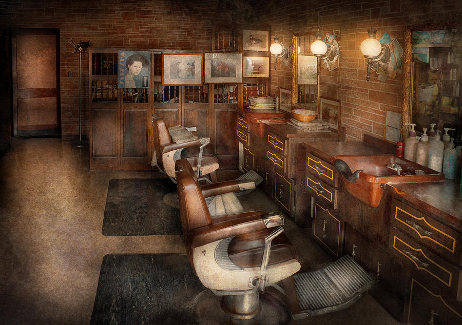 Barber - Clinton Nj - Clinton Barbershop  Photograph  - Barber - Clinton Nj - Clinton Barbershop  Fine Art Print
