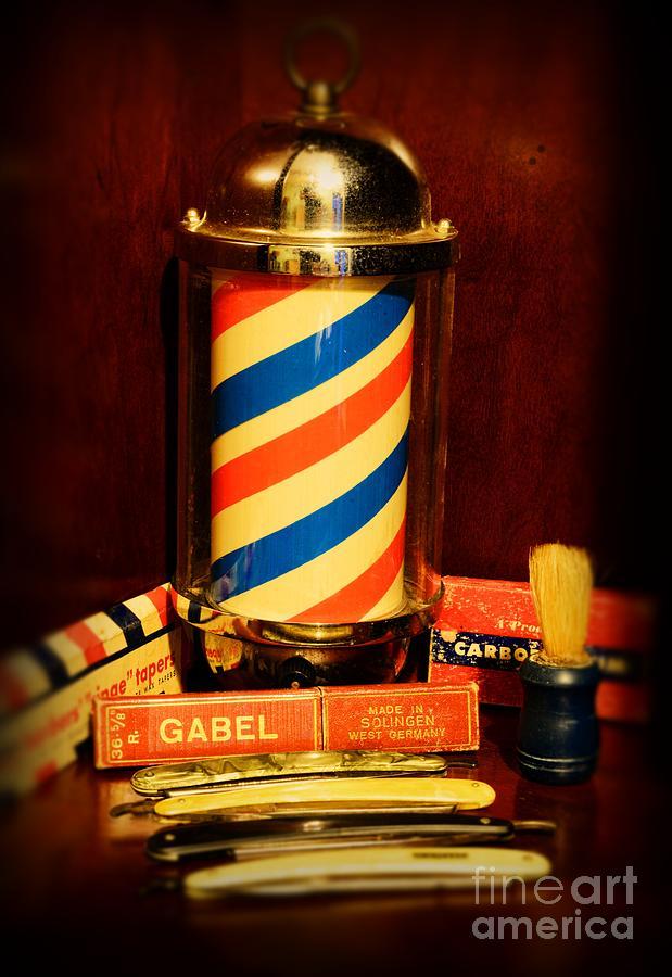 Barber Art : Barber - Vintage Barber Photograph - Barber - Barber Pole by Paul Ward