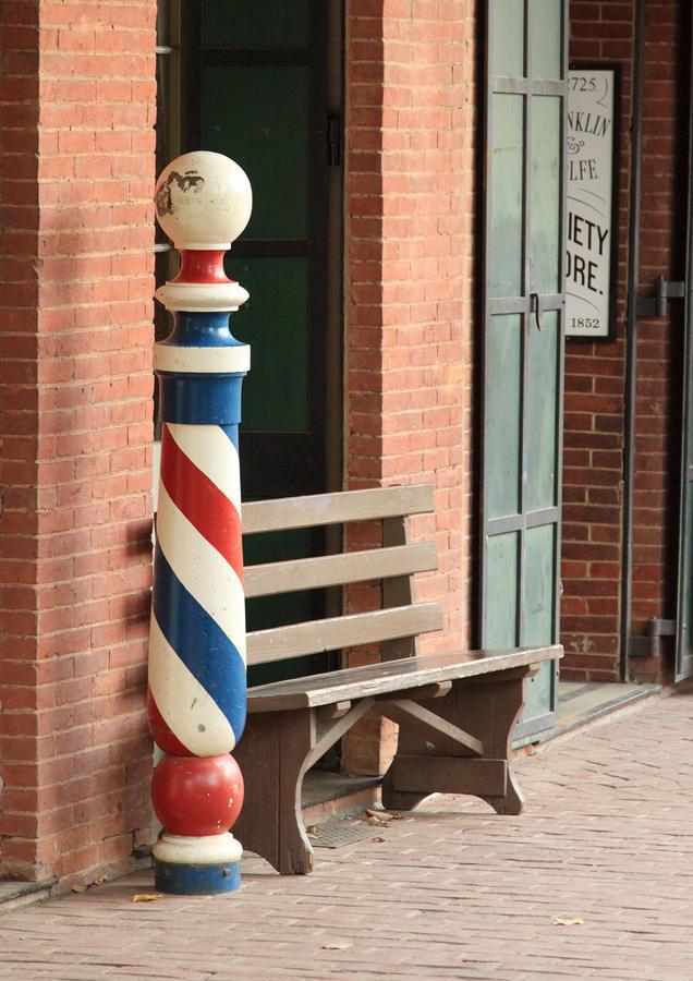 Barber Pole Columbia Ca Photograph
