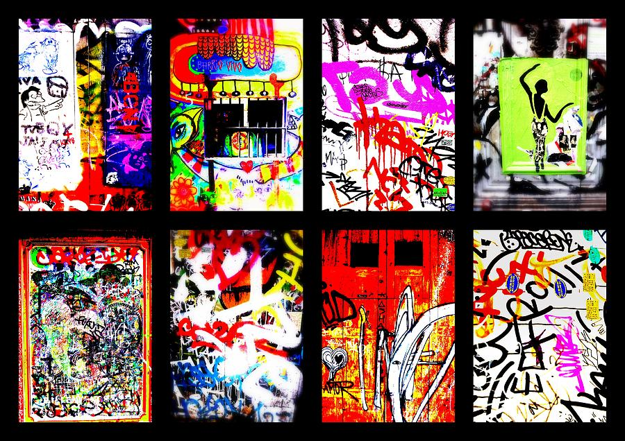 Barcelona Doors ... All Graffiti Photograph  - Barcelona Doors ... All Graffiti Fine Art Print