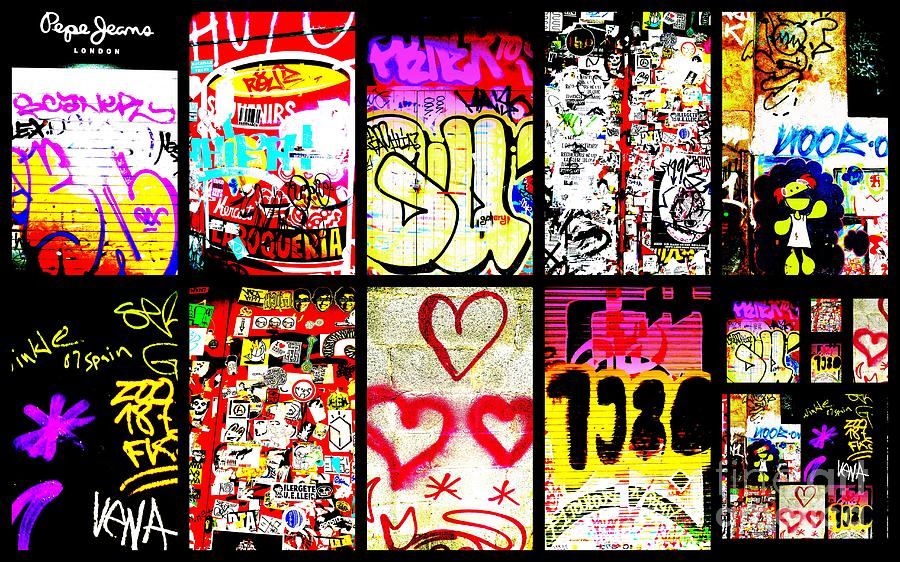 Barcelona Graffiti Wall  Photograph