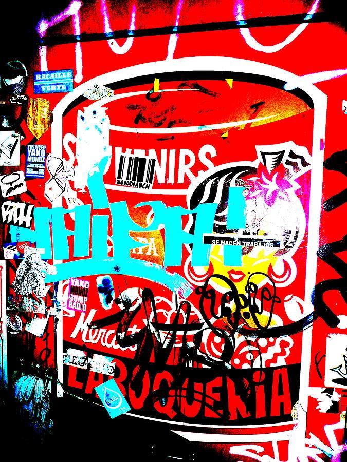Barcelona Street Graffiti Photograph