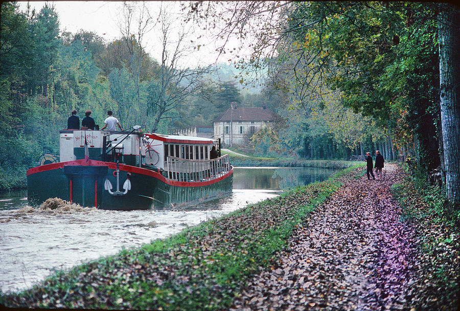 Barge On Burgandy Canal Photograph
