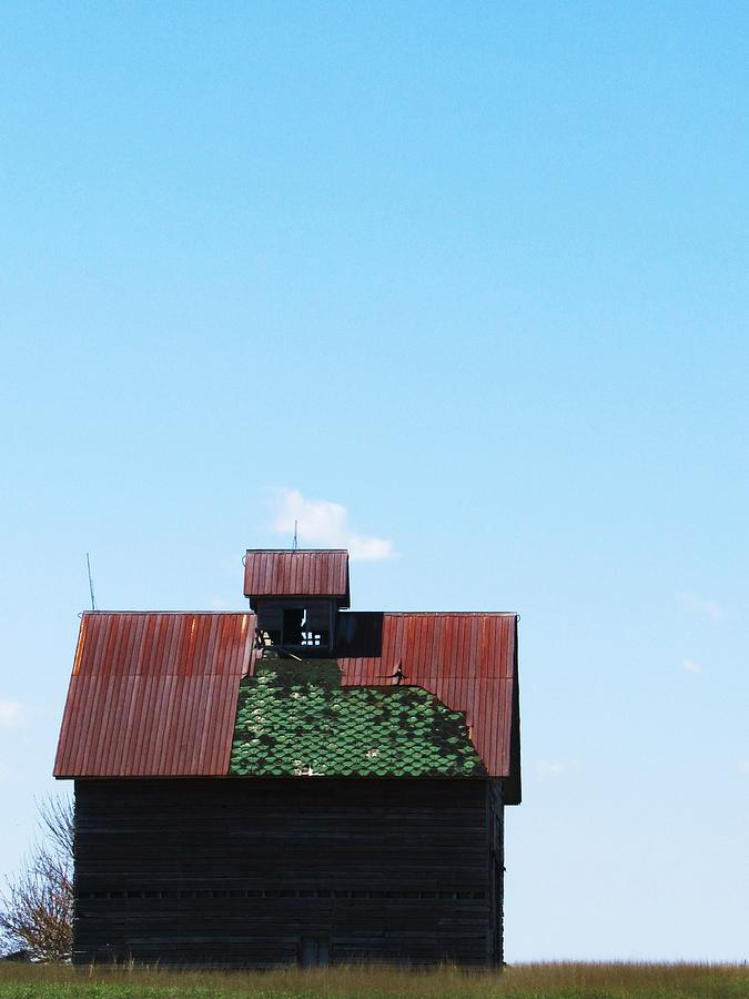 Barn With Green Roof Photograph - Barn-12 by Todd Sherlock