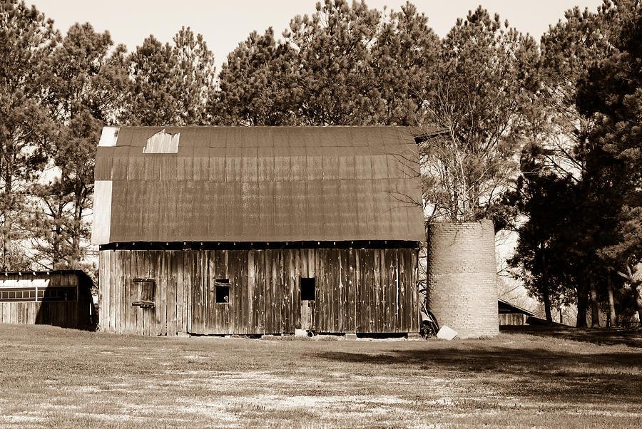Barn And Silo 1 Photograph