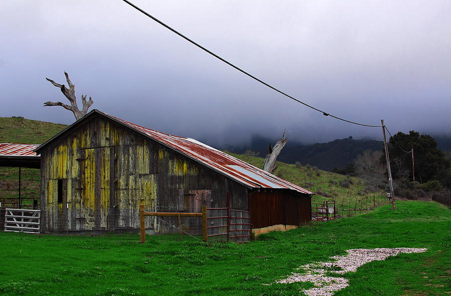 Barn In Rain Photograph