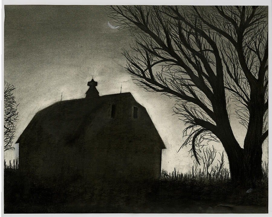 Barn Sillouette Drawing