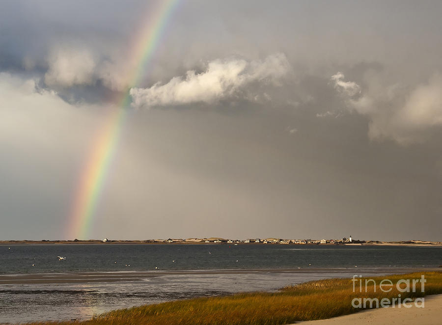 Barnstable Harbor Rainbow Photograph