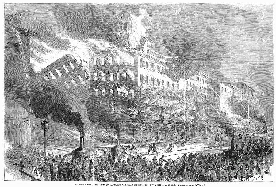 Barnums Museum Fire, 1865 Photograph
