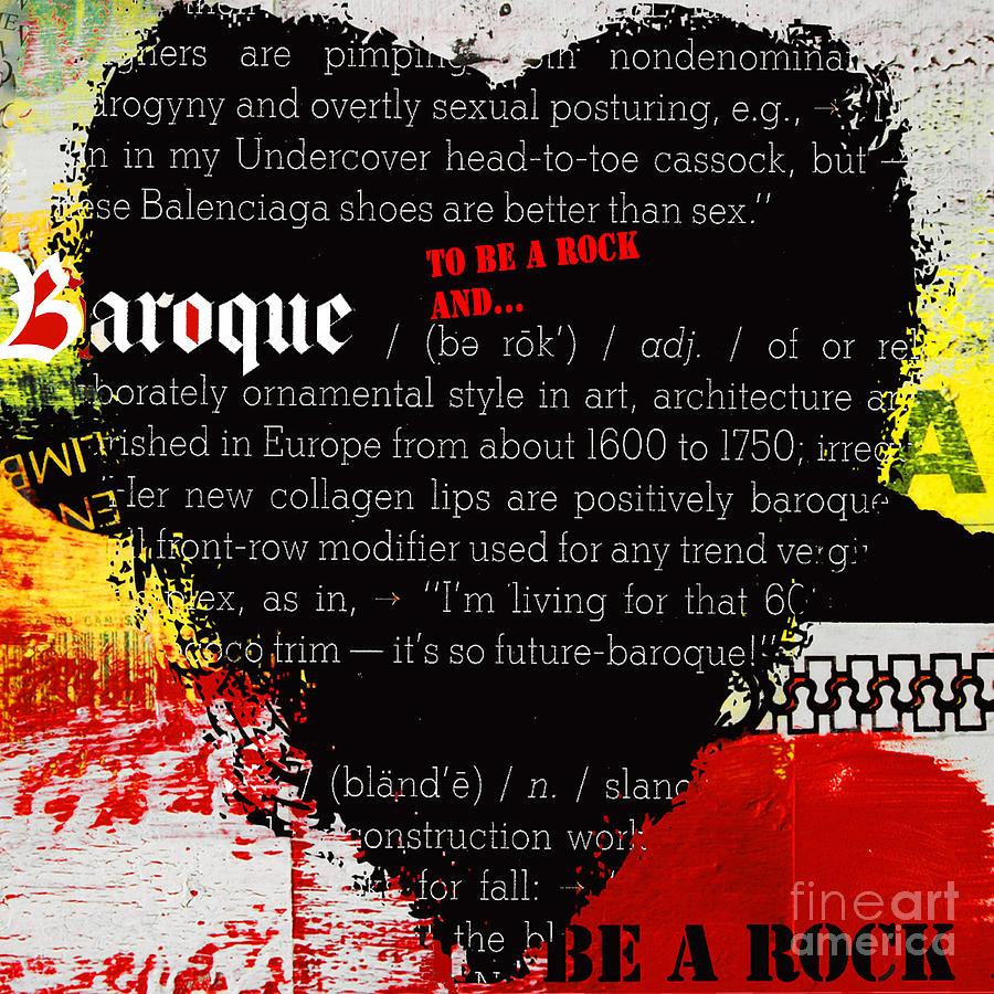 Baroque Graffiti Heart Digital Art