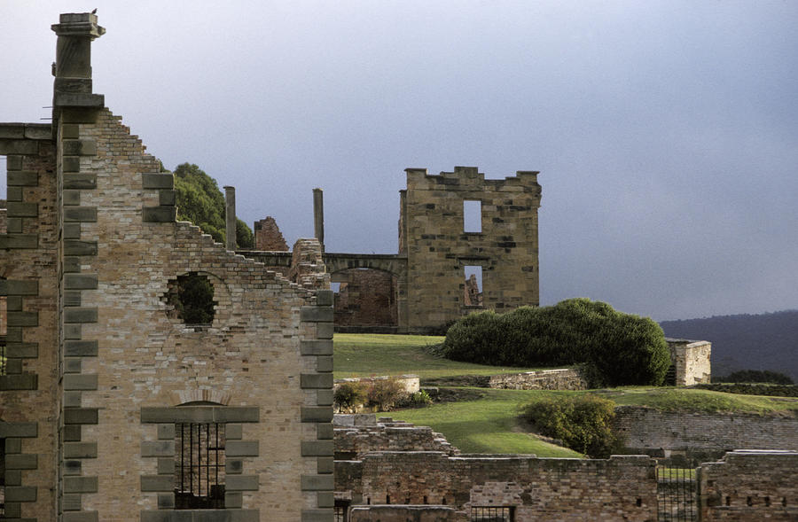 Barred Windows And Stone Ruins At Port Photograph