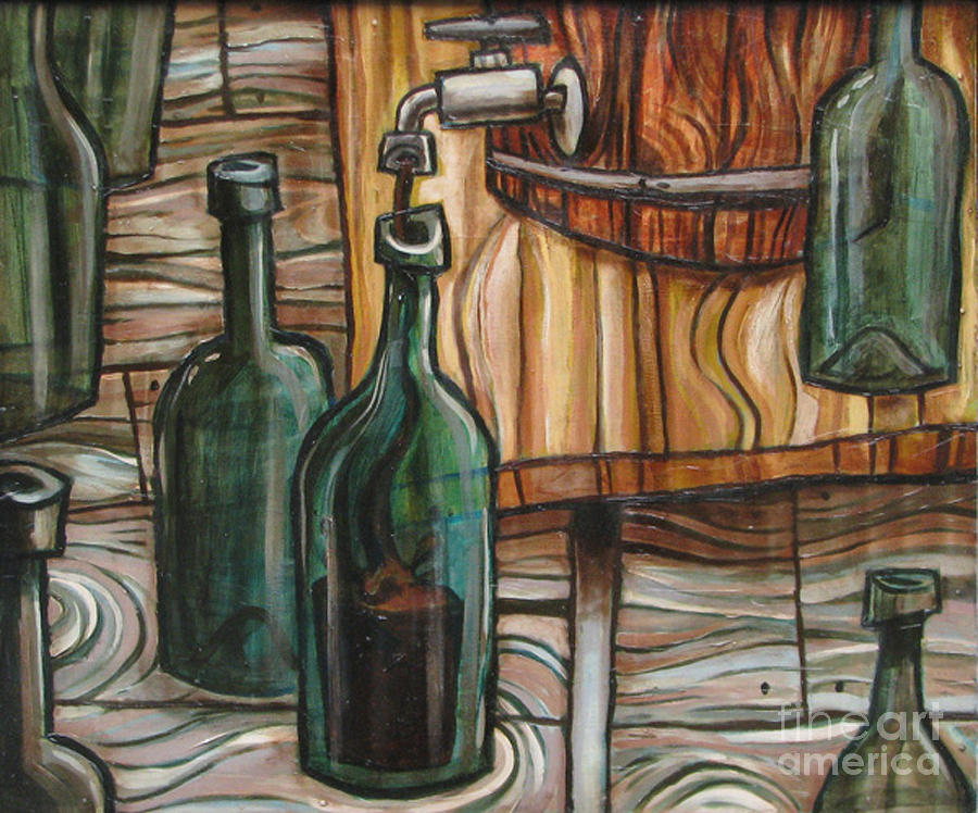 Barrel To Bottle Painting  - Barrel To Bottle Fine Art Print
