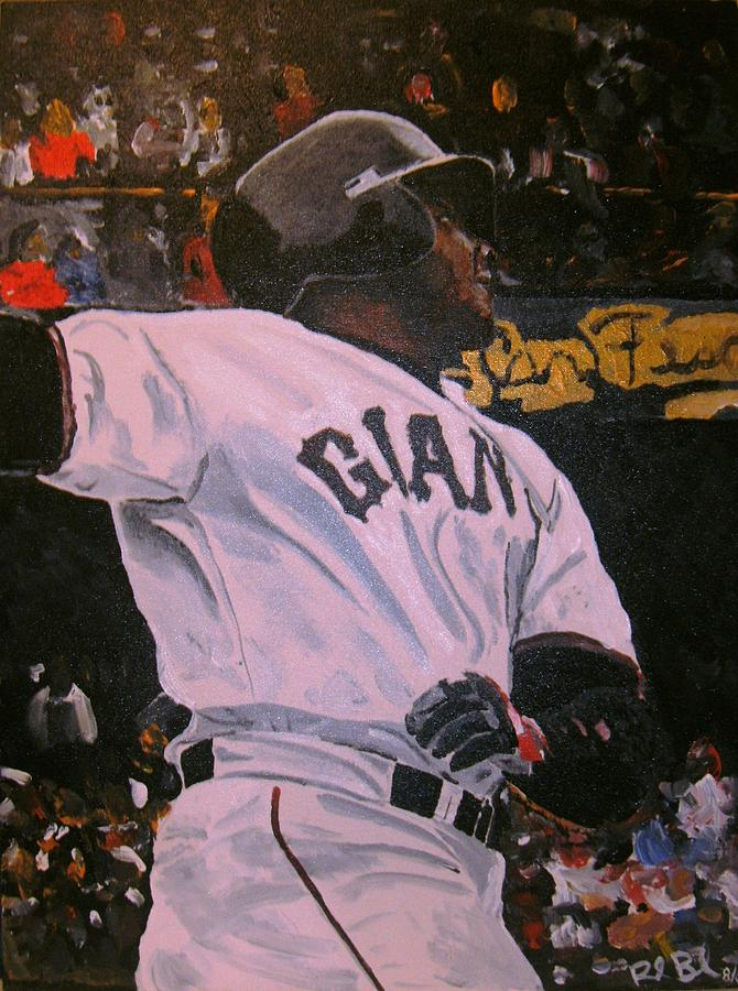 Barry Bonds World Record Breaking Home Run Painting  - Barry Bonds World Record Breaking Home Run Fine Art Print