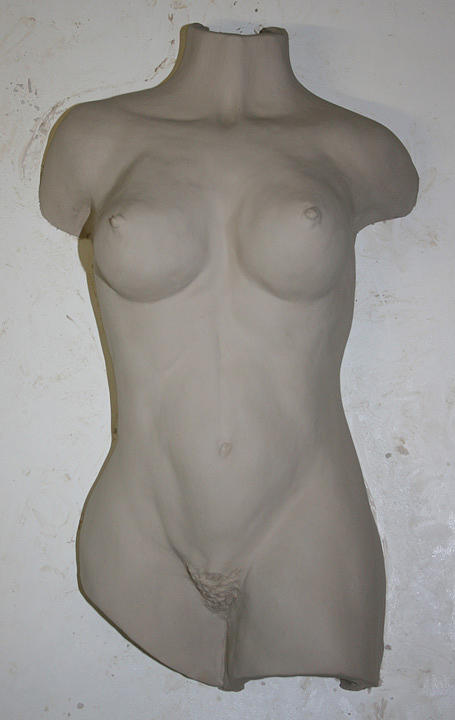 Bas Relief - Female Torso Relief