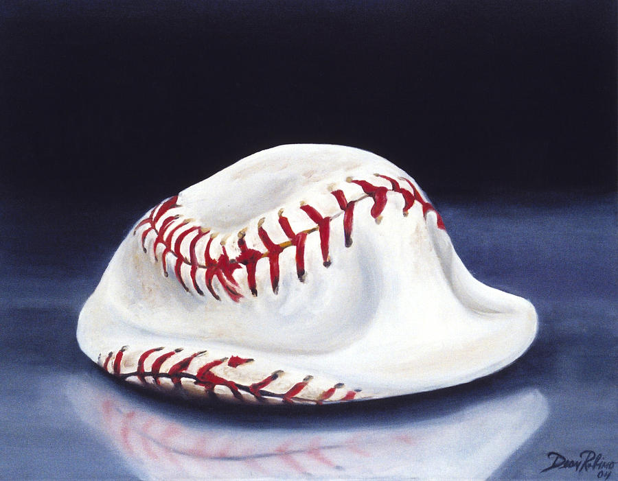 Sports Painting - Baseball 04 by Redlime Art