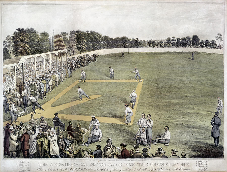 1866 Photograph - Baseball, 1866 by Granger