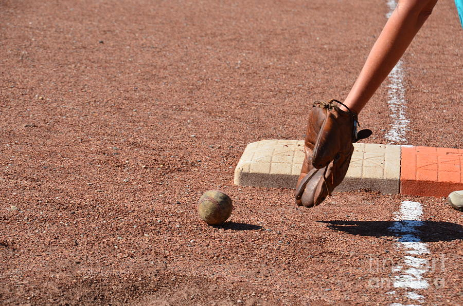 baseball and Glove Photograph