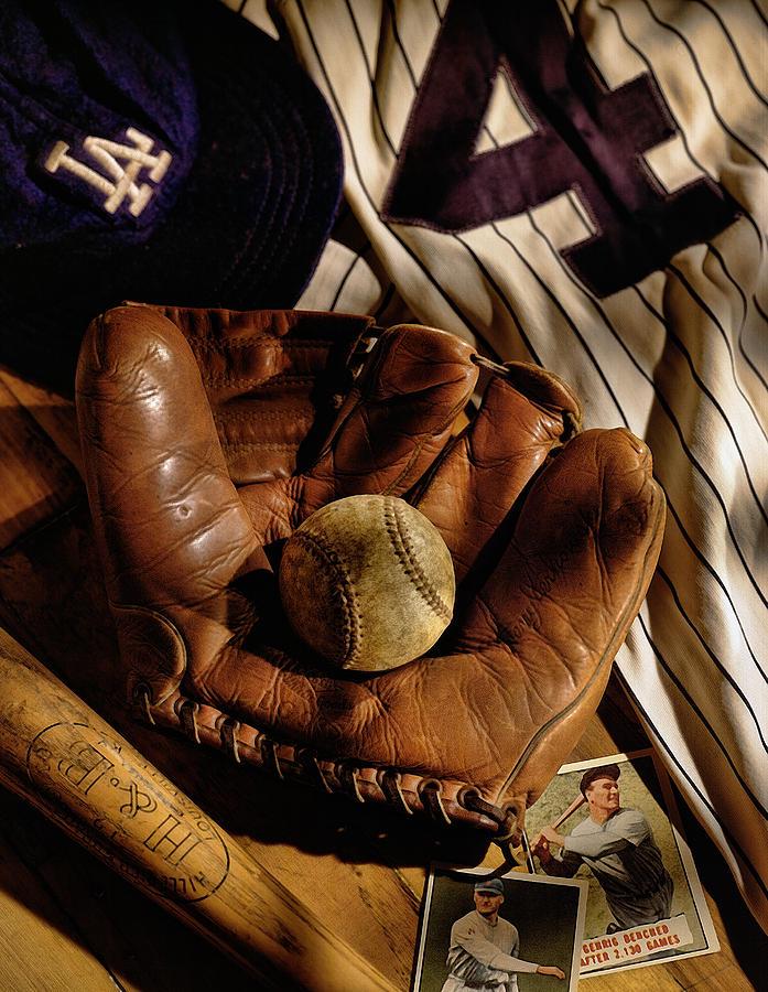 Glove Photograph - Baseball by Bob Nardi