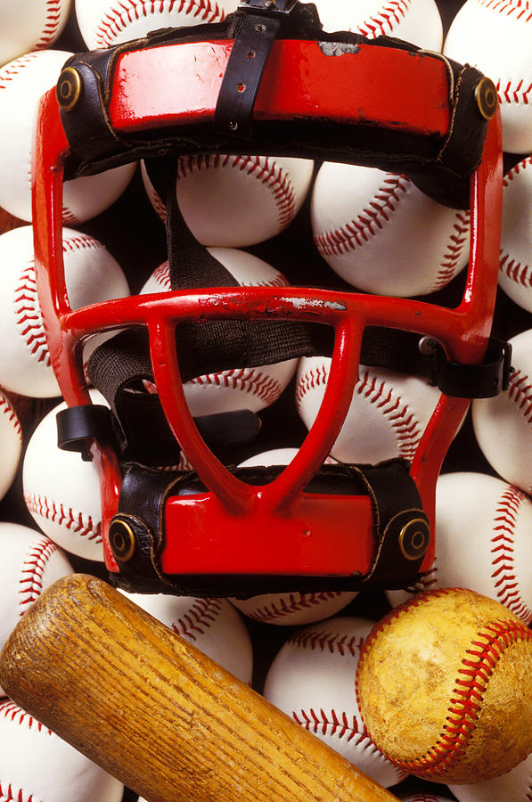 Baseball Catchers Mask And Balls Photograph  - Baseball Catchers Mask And Balls Fine Art Print