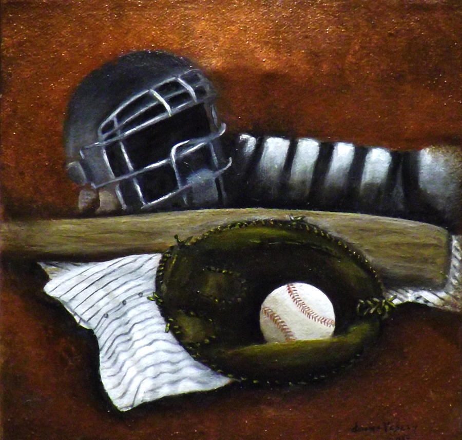 Baseball Painting  - Baseball Fine Art Print