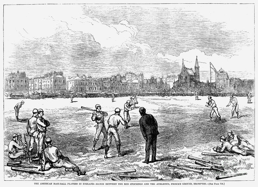 Baseball: England, 1874 Photograph