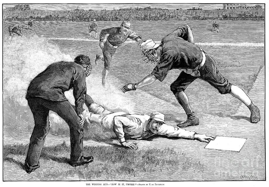 1885 Photograph - Baseball Game, 1885 by Granger