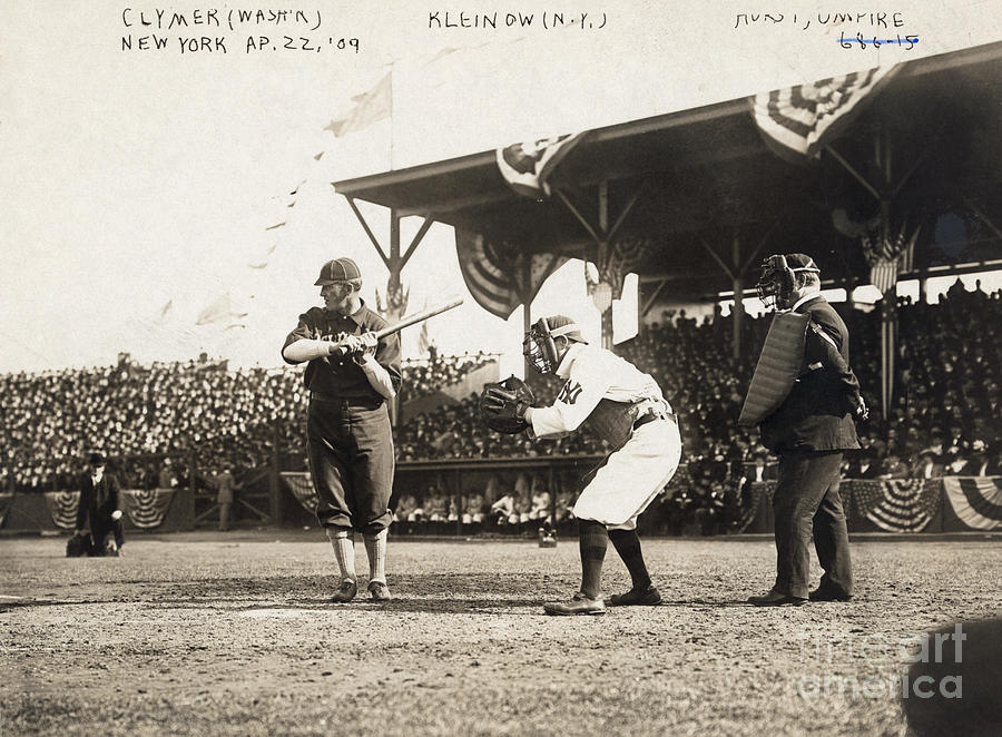 Baseball Game, 1909 Photograph  - Baseball Game, 1909 Fine Art Print