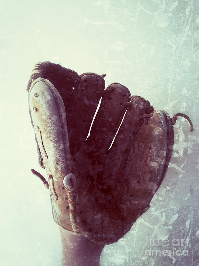 Baseball Glove Vertical Photograph  - Baseball Glove Vertical Fine Art Print